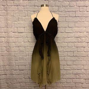 Gypsy 05 Ombré Ruffle Halter Summer Dress